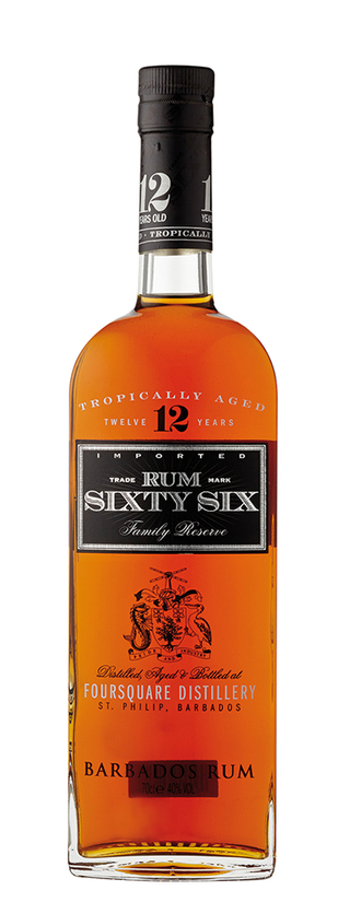 R.L Seale's Foursquare Distillery, Rum Sixty Six 12 Years Old Gold