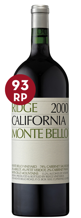 Ridge Vineyard, Monte Bello, en magnum, 2000