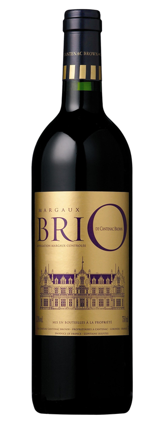 Brio de Cantenac Brown, 2nd vin du Château Cantenac Brown, 2014
