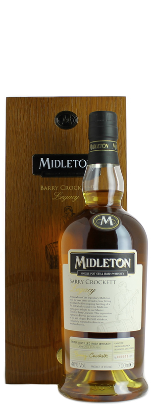 Midleton Distillery, Barry Crocket Lagacy Triple Distilled